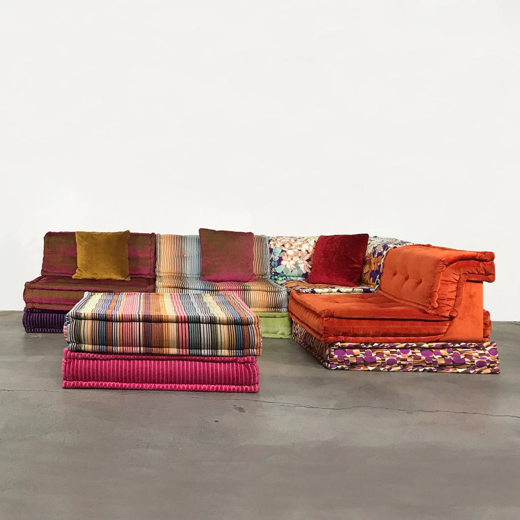 Roche bobois multi colored mah jong modular sofa by hans for Mah jong modular sofa replica