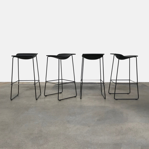 Patricia Urquiola Last Minute Indoor/Outdoor High Bar Stool Black