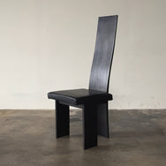 Vintage Black Leather Sibau Dining Chair | LA | Consignment