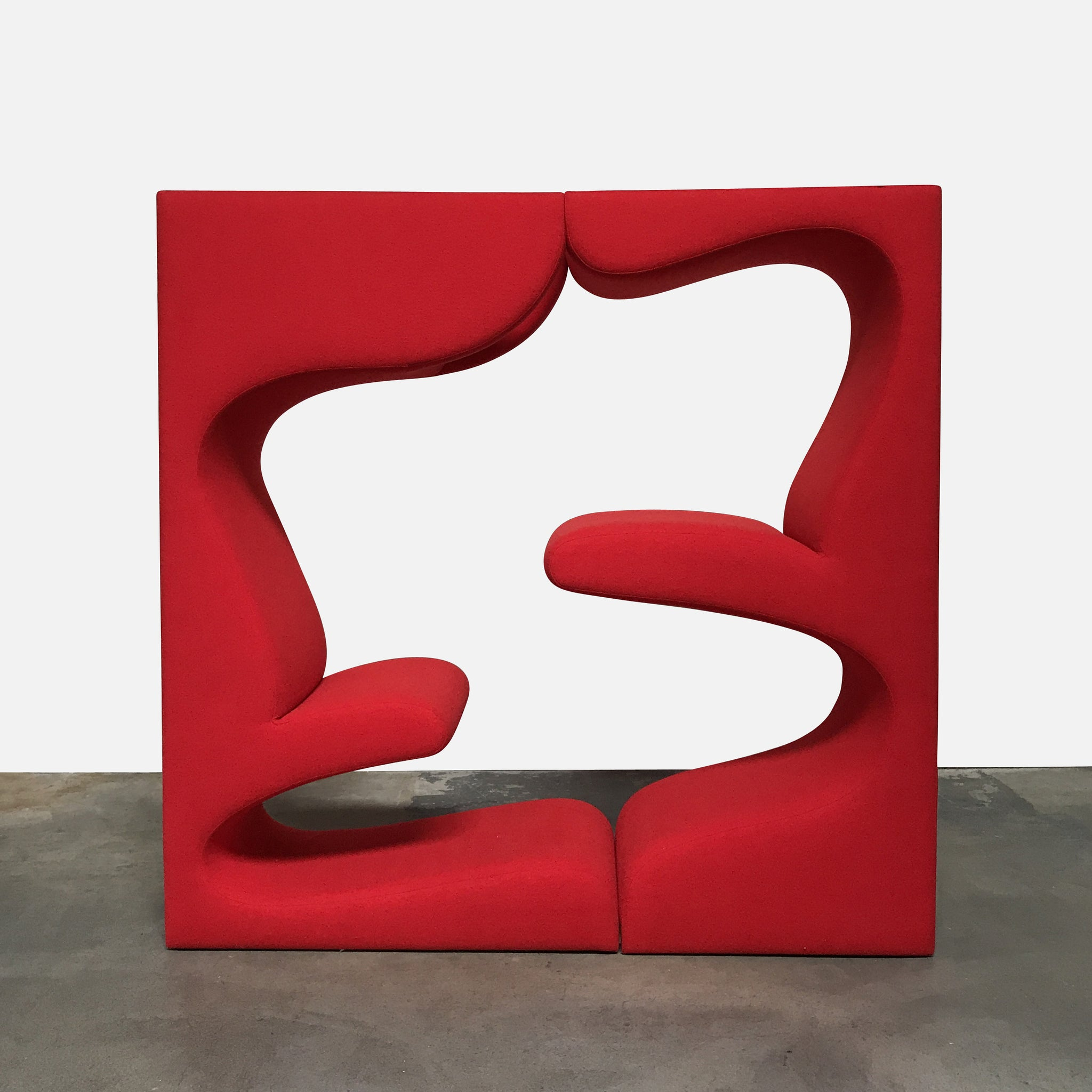 Red Fabric Living Seating Tower by Verner Panton - work of art ...