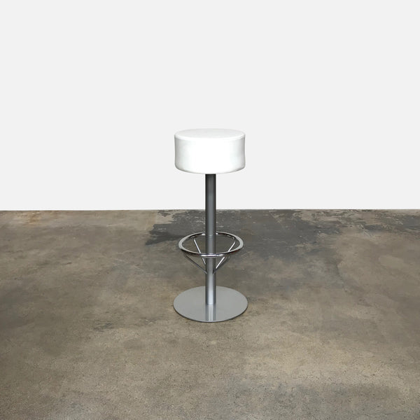 White Leather Bar Stool (3 in stock)