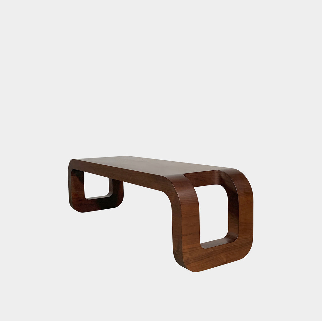 Walnut Bench, Bench - Modern Resale