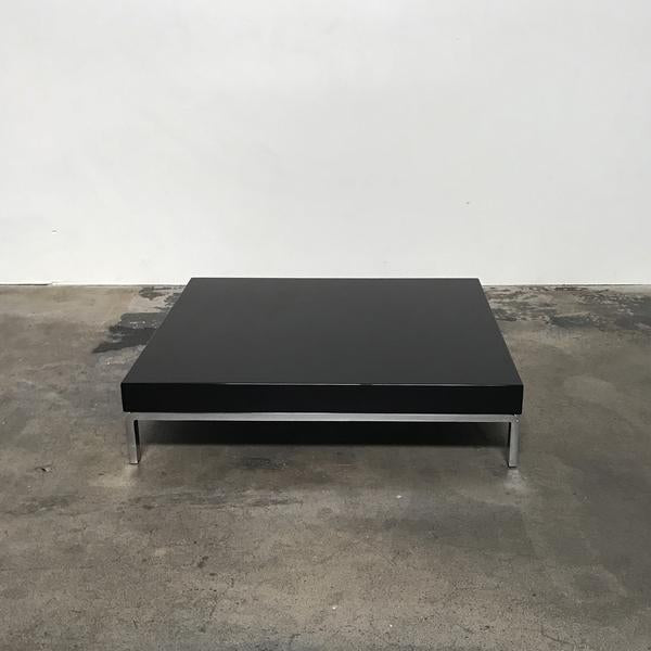 Zanotta Black Matte Greggy Coffee Table by Emaf Projects