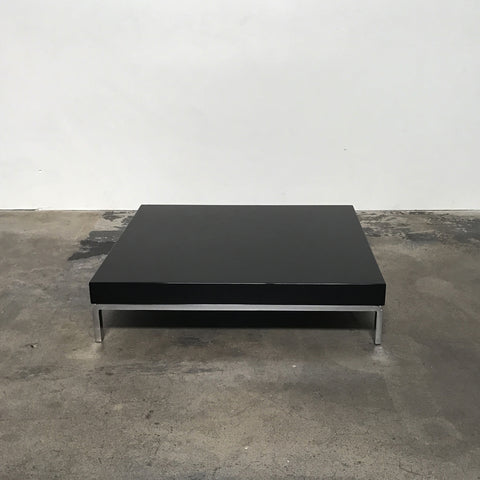 Zanotta Black Glossy Greggy Coffee Table by Emaf Project