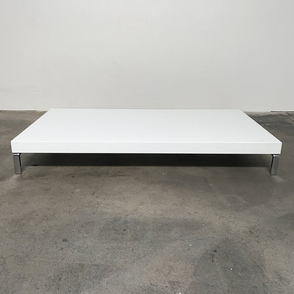 zanotta white glossy greggy coffee table by emaf projects modern