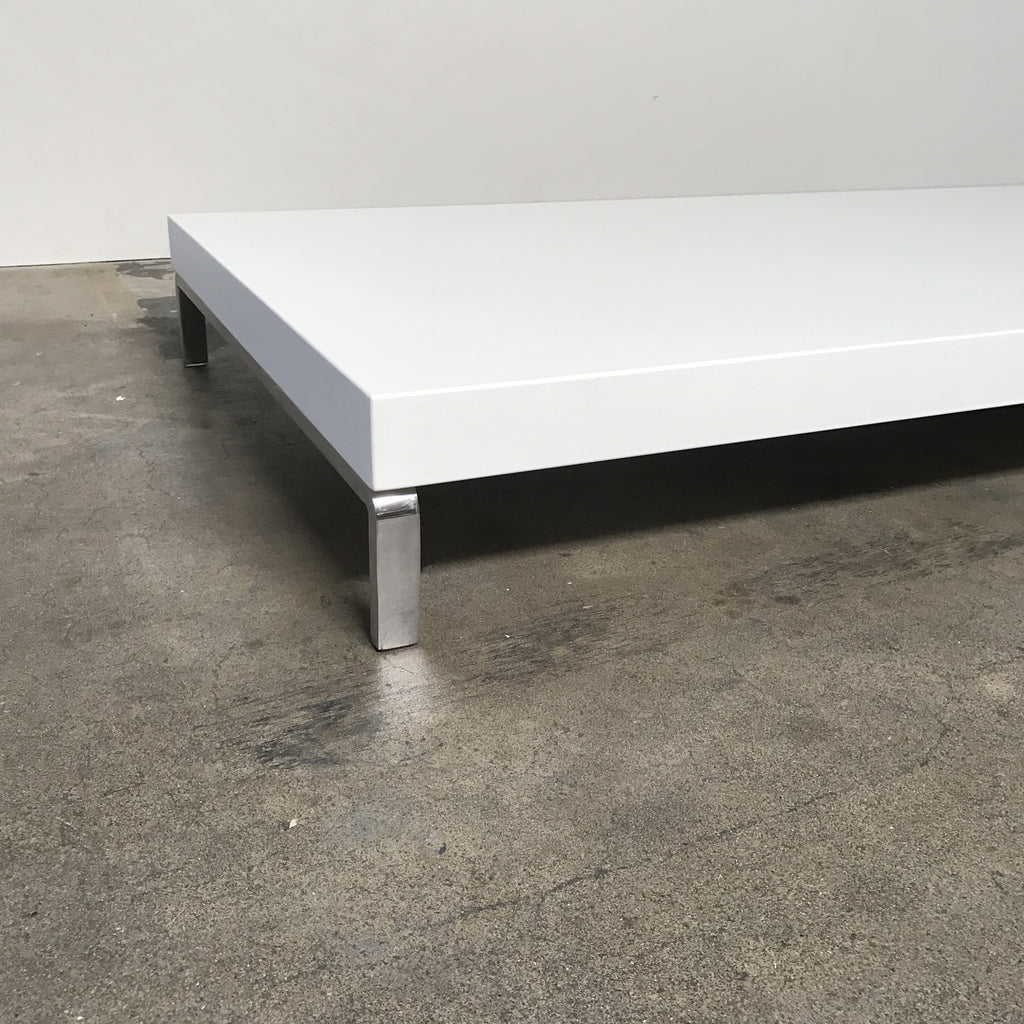 zanotta white glossy greggy coffee table by emaf projects