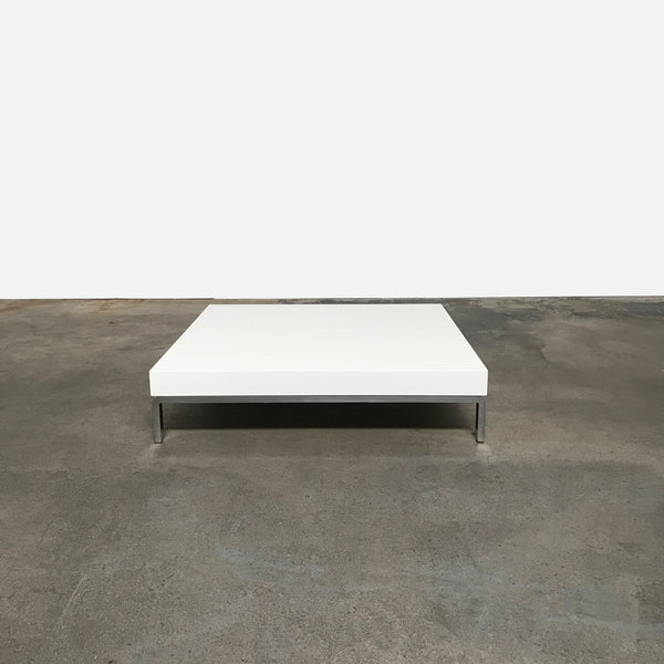 Zanotta White Matte Greggy Coffee Table by Emaf Projects