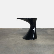 Zanotta Black Tod Lacquer Side Table by Todd Bracher| LA | Consignment