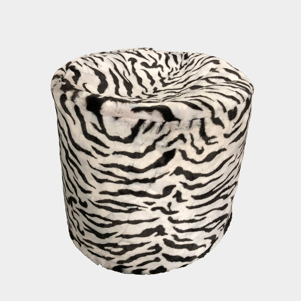 Zanotta Black and White Zebra Stool (2 in stock)