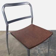Aluminum & Wood Stackable Dining Chairs (9 In Stock)