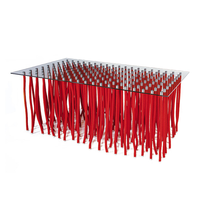 Cappellini Red Leg Org Dining Table by Fabio Novembre