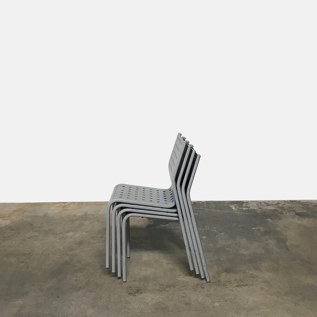 Zanotta Aluminum Stackable Dining Chairs Zanotta Aluminum Stackable Dining Chairs
