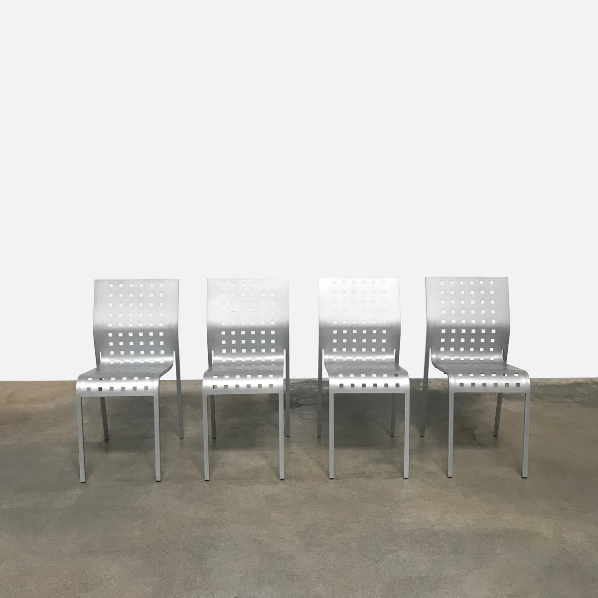 Aluminum Stackable Dining Chairs - $99 each