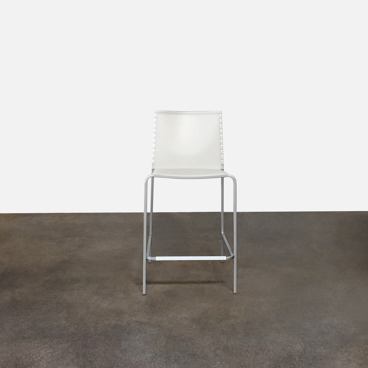 Desalto Clear Plastic Zip Counter Stool by Marco Maran