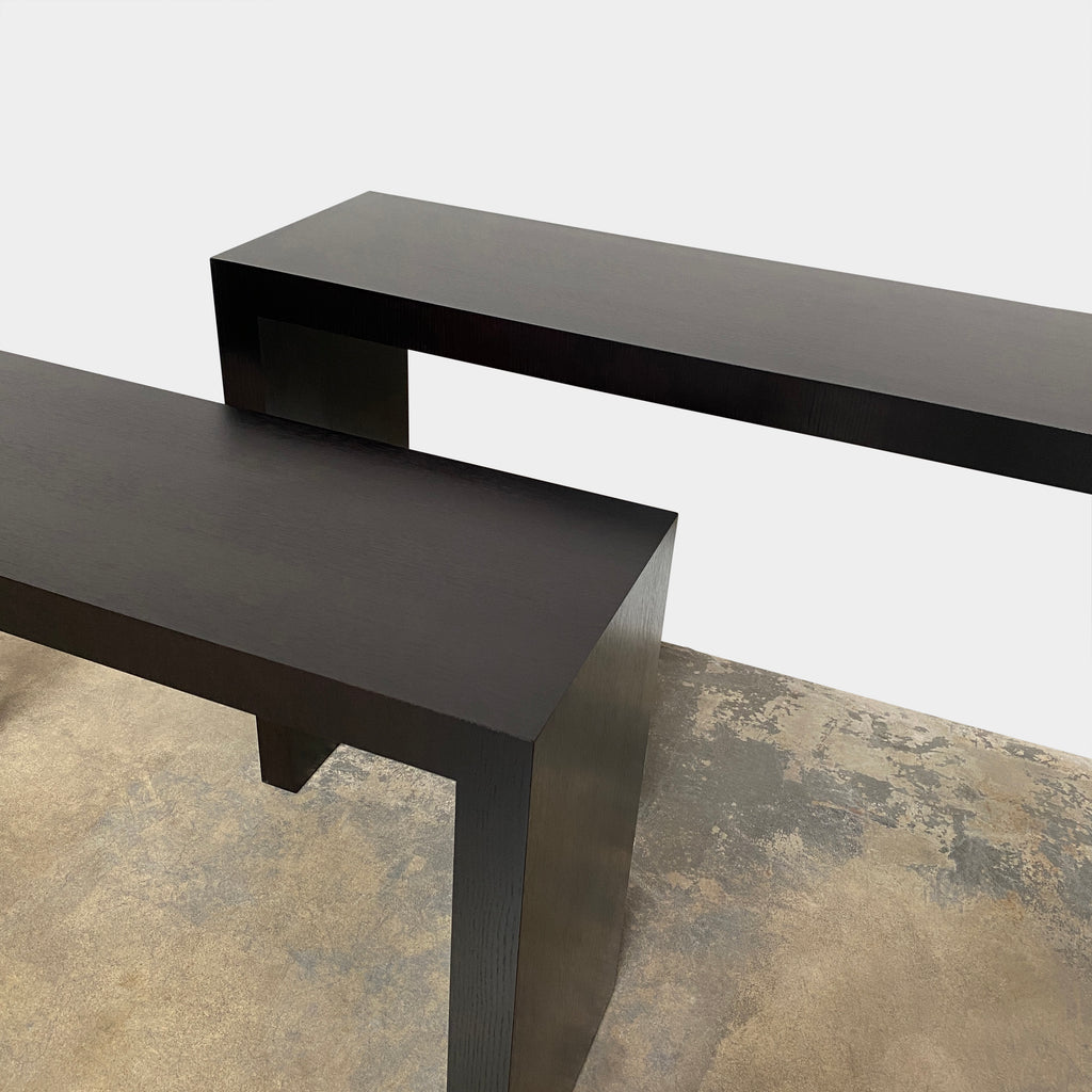 Wenge Wood Consoles, Console - Modern Resale