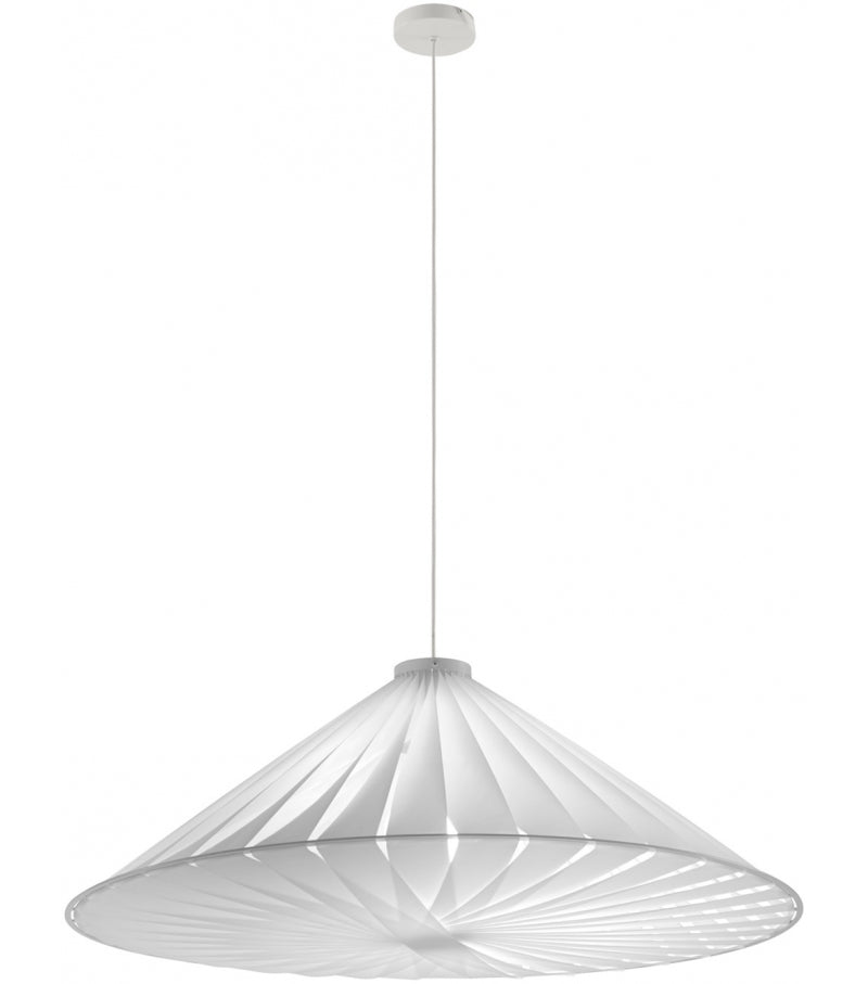 Ligne Roset White Fabric Carroussel Suspension Light