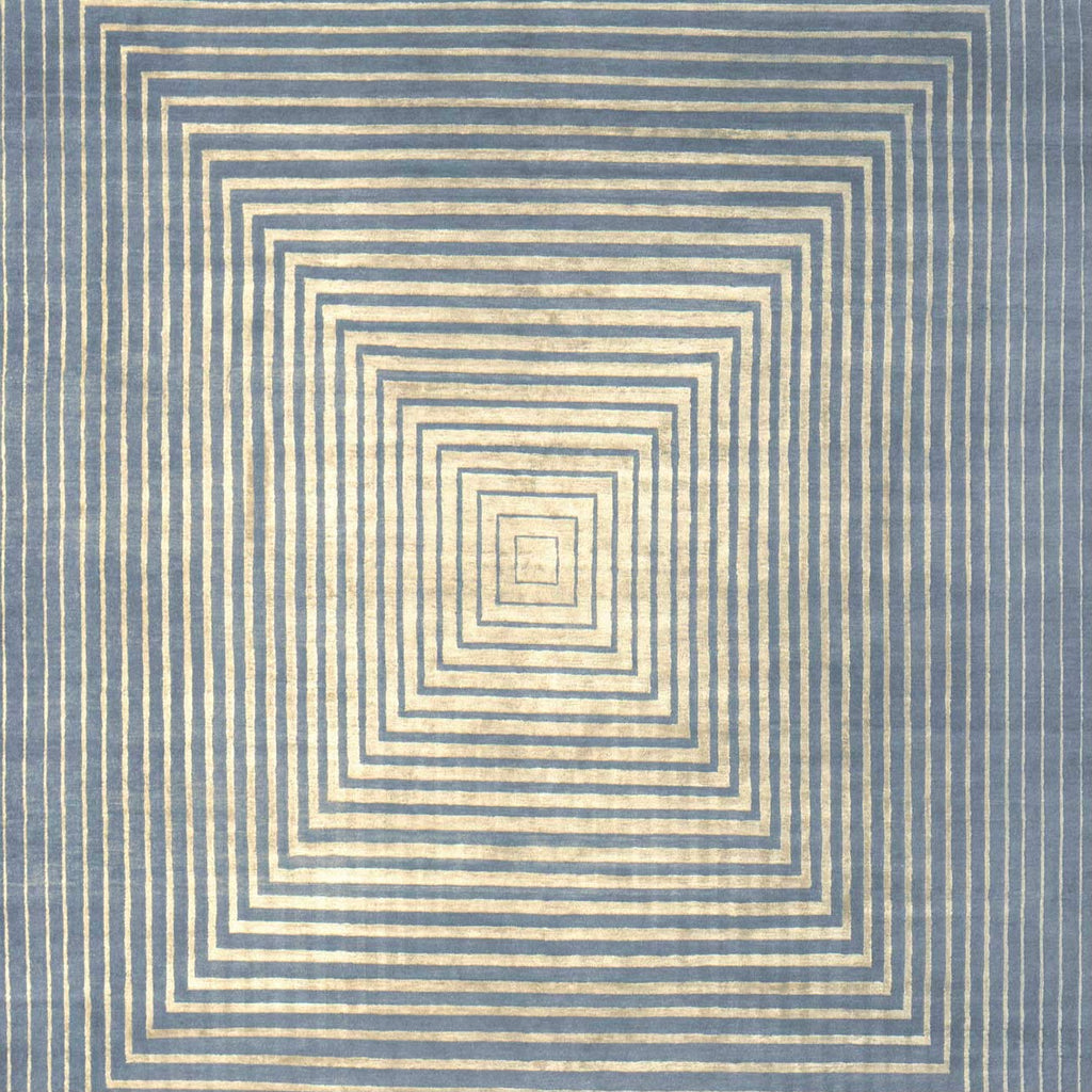 Infinity Powder Blue Silk and Wool 8'X10' Rug, Rug - Modern Resale