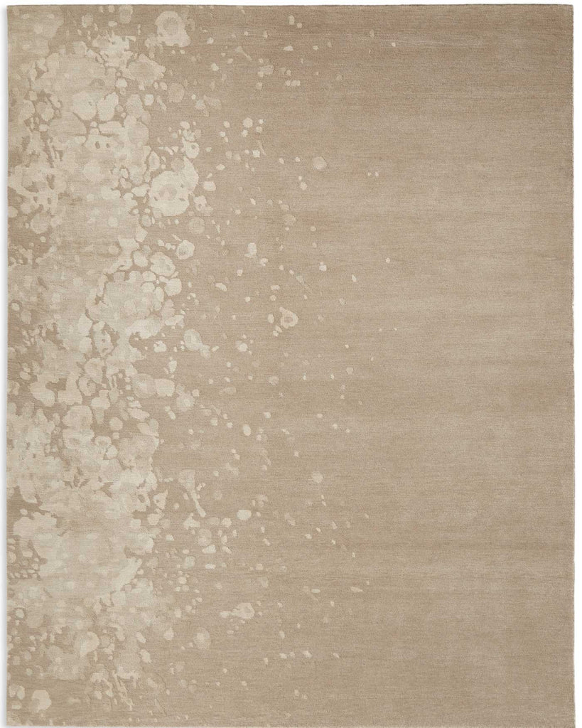 Splattered Edge Beige and Cream 6'X9' Rug, Rug - Modern Resale