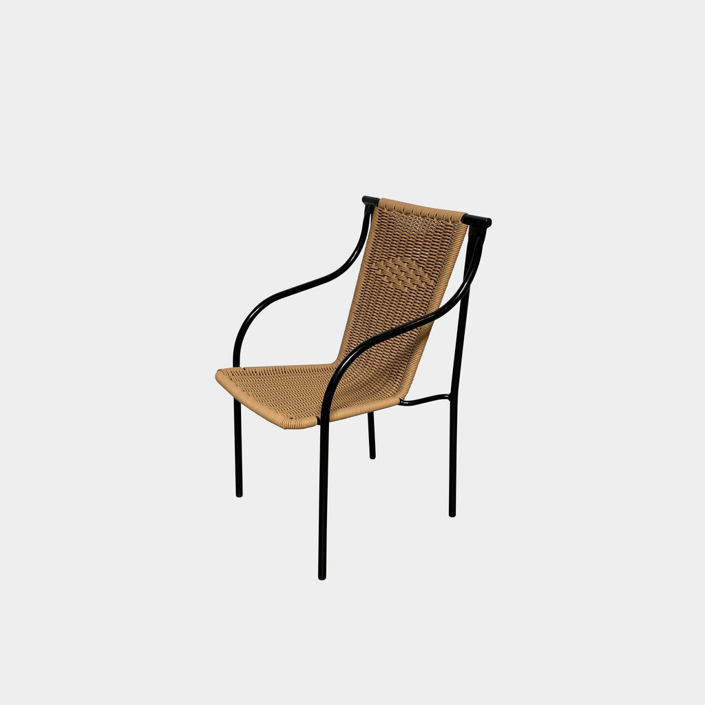 Woven Indoor / Outdoor Arm Chair, Armchair - Modern Resale