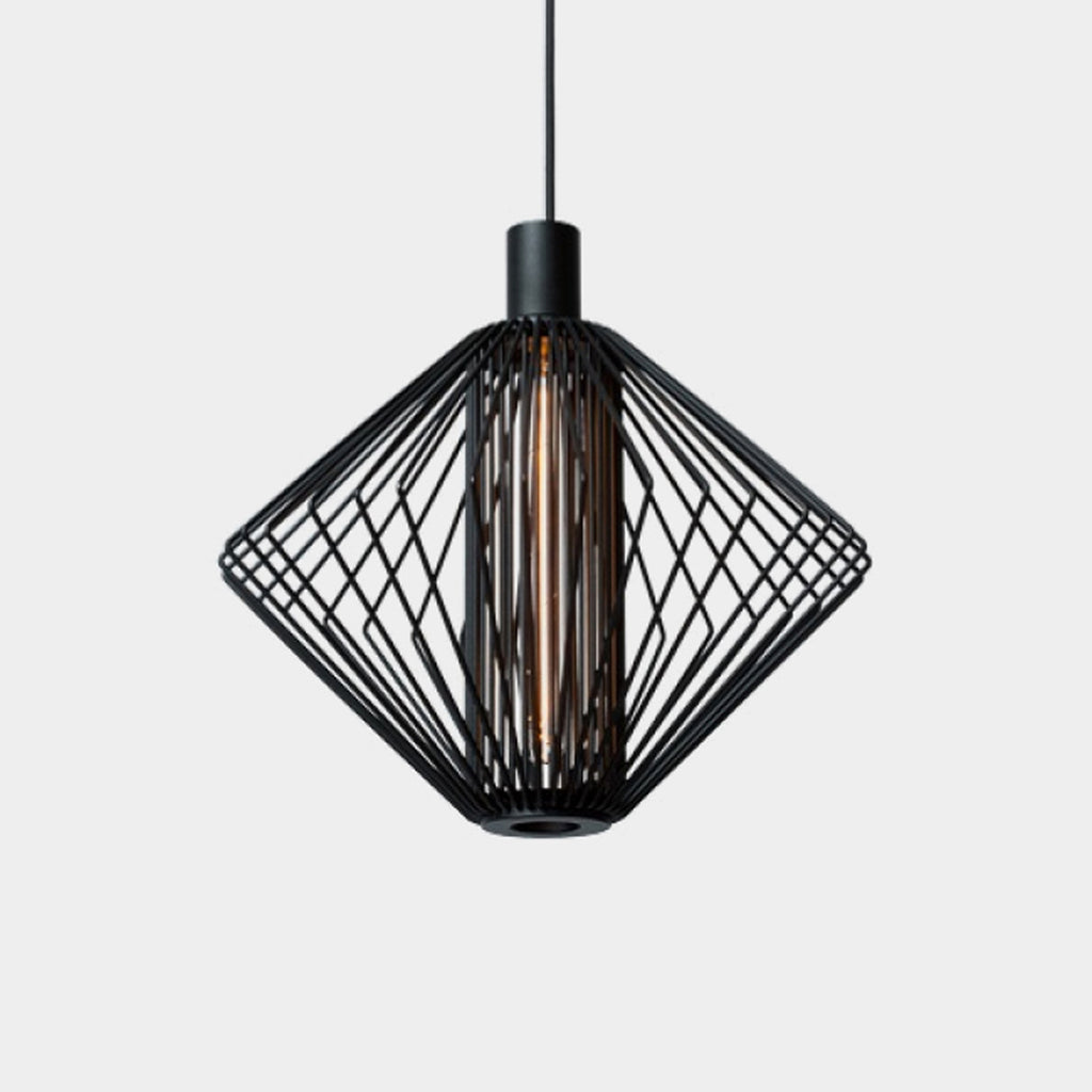 Wever Ducre Wiro Diamond Black Suspension Light | Los Angeles Consignment