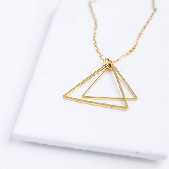 silver triangle products party coleon various gift jewelry necklace dancing sterling trendy gemstones pendant women zircon fine