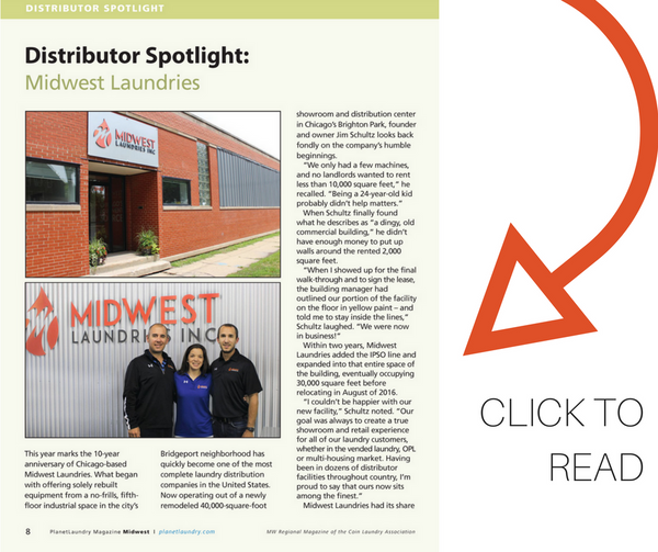 Midwest Laundries Featured in Coin Laundry Industry Trade Magazine