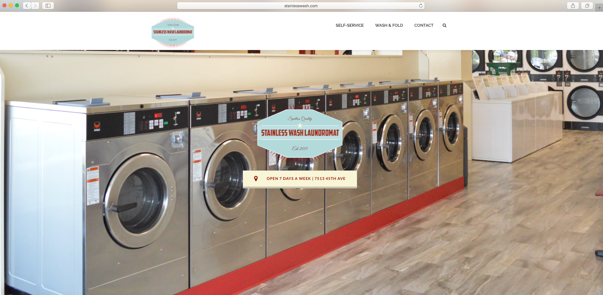Stainless Wash Homepage