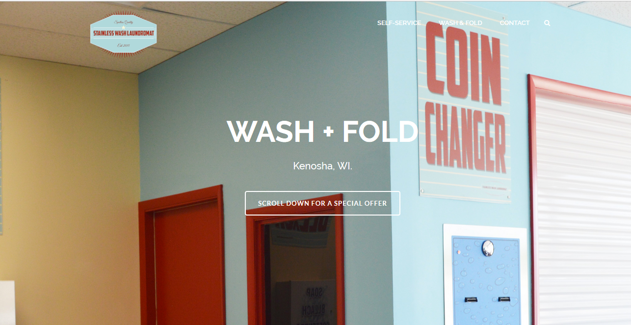 Wash and Fold Laundry Website