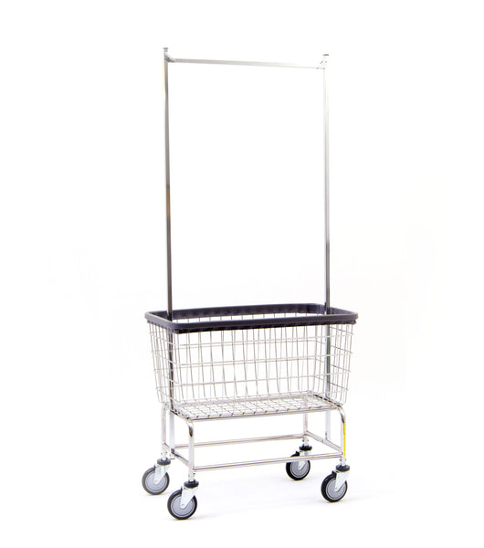 200f56 large capacity laundry cart w double pole rack. Black Bedroom Furniture Sets. Home Design Ideas