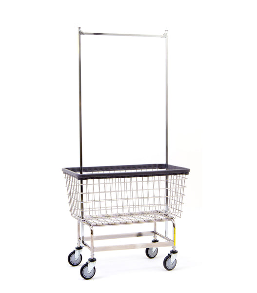 201h56 6 Bu Quot Big Dog Quot Laundry Cart W Double Pole Rack