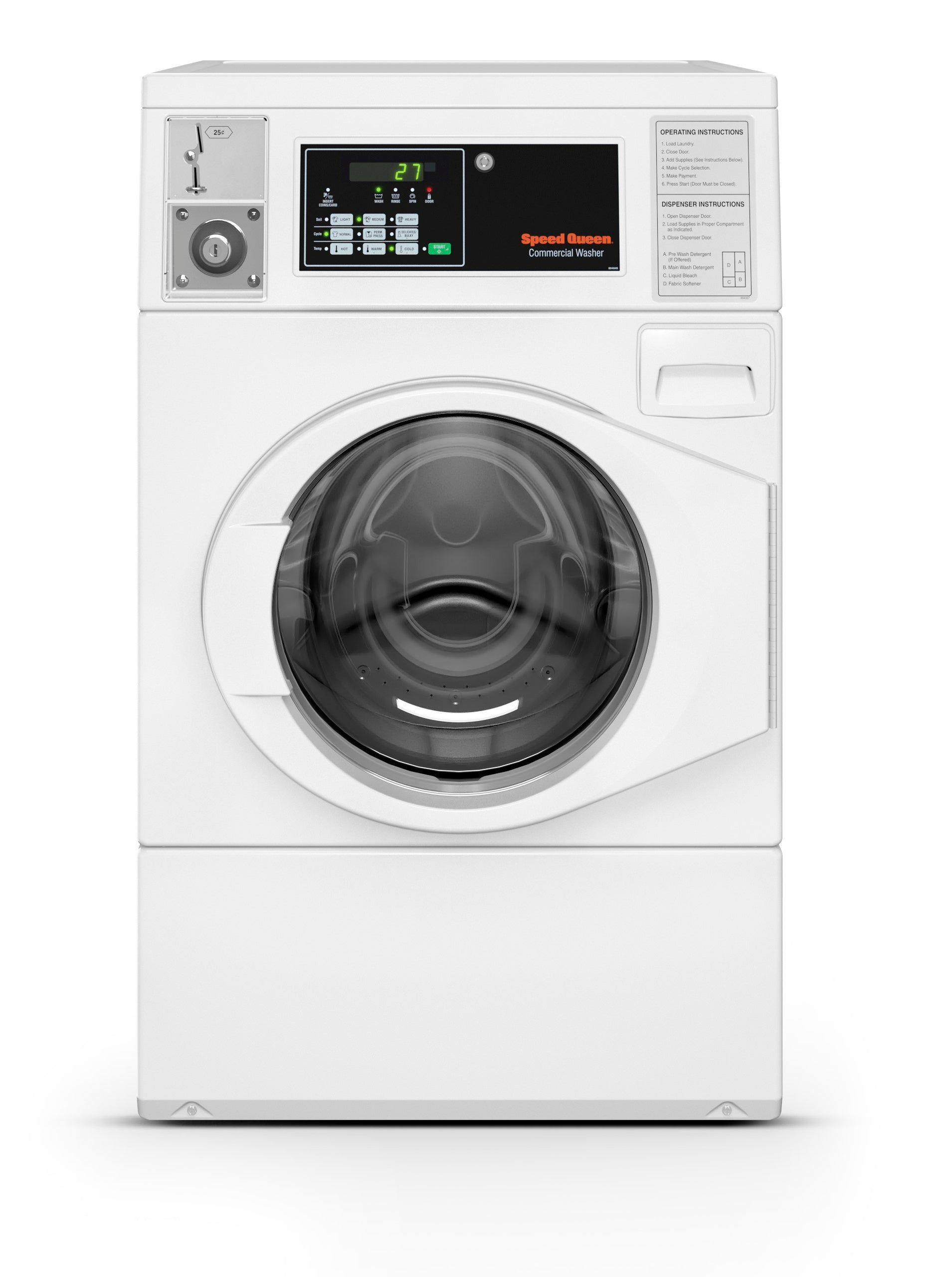 Speed Queen Coin-Operated Frontload Washer, SFNNCASP115TW01