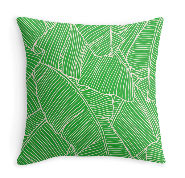 Plants on pink - Decor Pillow (more colors)