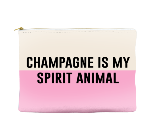 Champagne Is My Spirit Animal - Pouch (more colors)