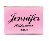 Personalized Bridesmaid - Accessory Pouch - Travel Bag - More Colors!