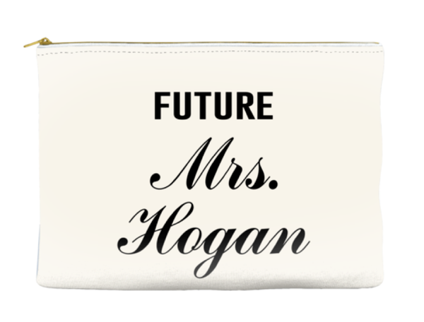 Personalized Future Mrs. - Accessory Pouch - Travel Bag - More Colors!