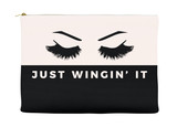 Just Wingin' It Makeup Bag, Makeup Pouch, Custom Bag (More Colors)