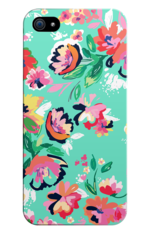 Turquoise Floral Print Phone Case