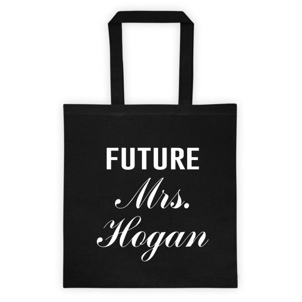 Personalized Wedding Tote bag - Black