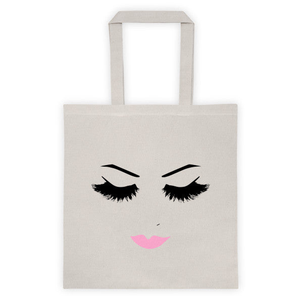 Lovely Lashes Tote bag - Natural