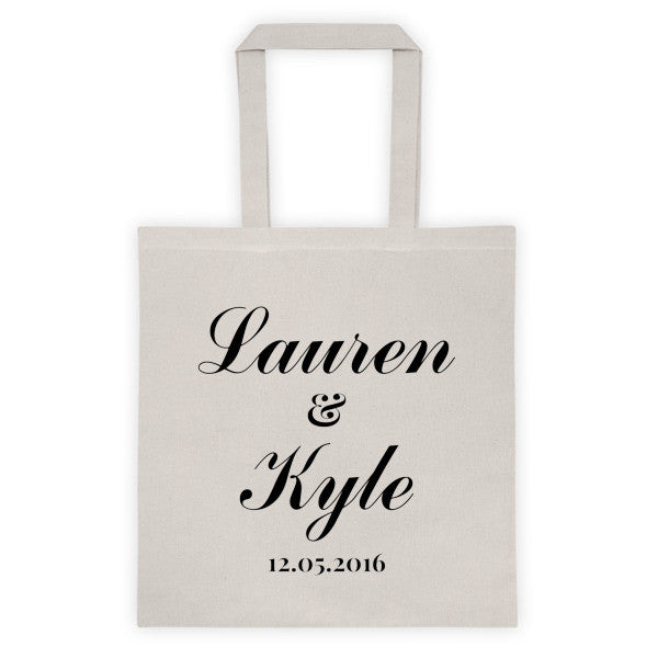 Personalized Wedding Tote bag - Natural