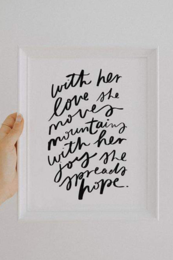 With Her Love Print