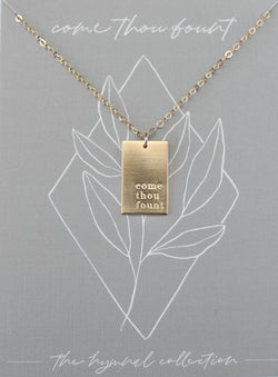 Come Thou Fount Hymn Necklace