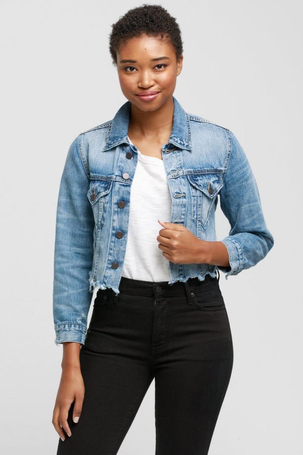 Naibi Cropped Denim Jacket