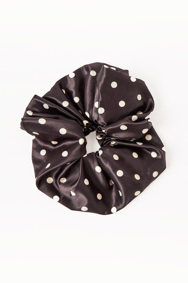 Oversized Dot Scrunchie