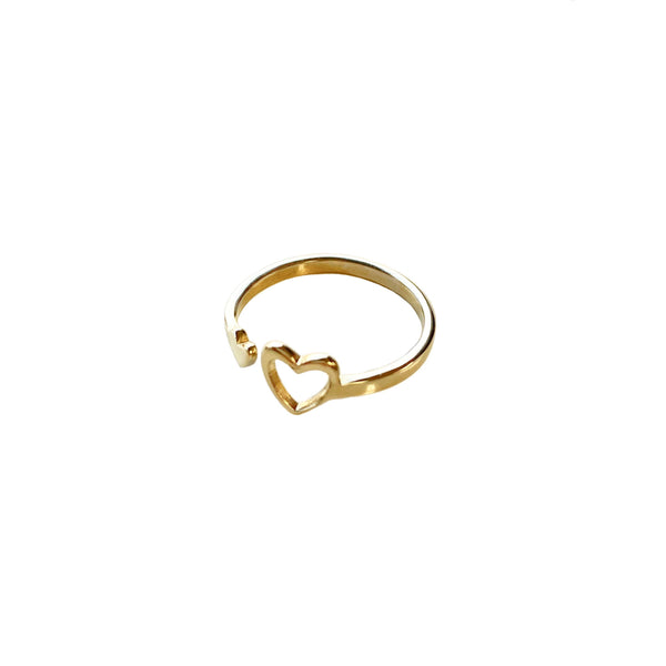 Miracle Heart Ring: Brass