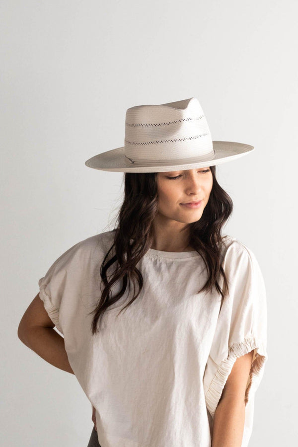 Arlo Cream Straw Fedora