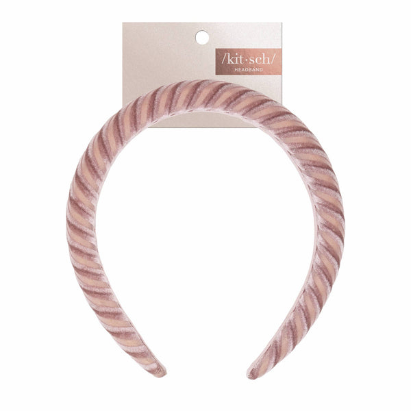 Blush Velvet Padded Headband