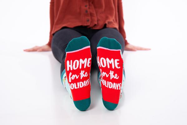 Home For The Holidays Crew Socks