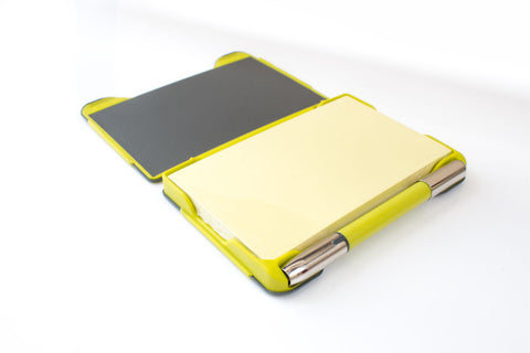 Image of inside the stylish yellow Noteshel pad