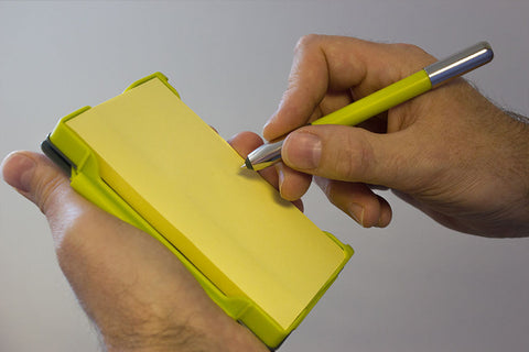 Image of someone using the NoteShel pad